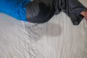 adult deals with bedwetting